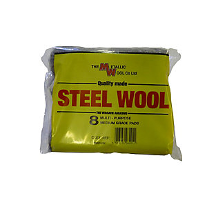 Metallic Wool Steel Pads (Pack of 8)