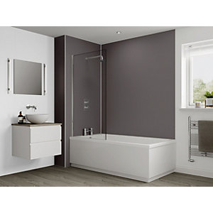 Multipanel Heritage Bathroom Wall Panel Hydrolock Graphite Twill