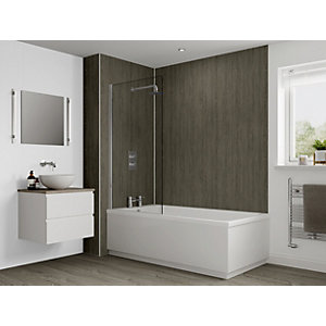 Multipanel Heritage Bathroom Wall Panel Hydrolock Logan Oak
