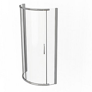 Kudos Infinite Curved Offset Quadrant Sliding Door Shower Enclosure 1000 x 810 mm 4SCDOS108S