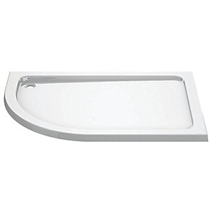 iflo 1200 x 900 mm Left Hand Offset Quadrant Abs Slimline Shower Tray