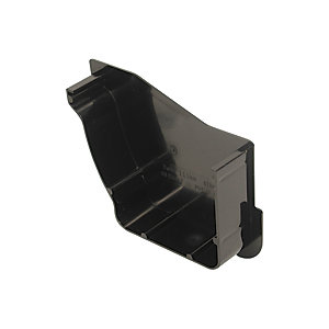 Osma Stormline 8T840B Guttering And Rainwater Gutter Stop End Internal Left Hand Black