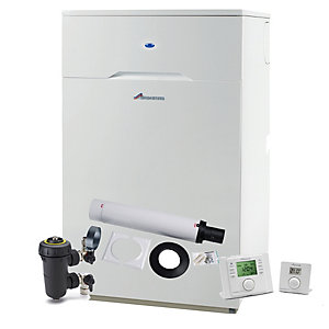 Worcester Bosch Greenstar Heatslave II 18/25 25kW Oil Combi Boiler with Flue, Filter and Comfort I Control 7731600048