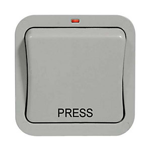 BG 1 Gang 2 Way Retractive Switch labelled 'PRESS' - WP14