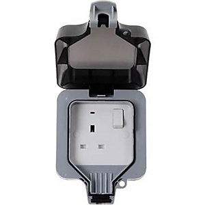 BG 13A 1 Gang IP66 Outdoor Socket - WP21