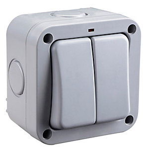 BG 2 Gang IP66 Outdoor Switch - WP42
