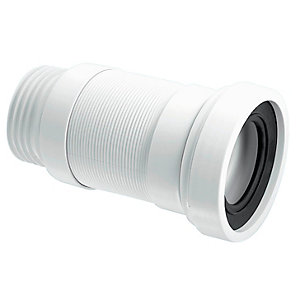 McAlpine 3.5in Straight Medium Flexible WC Connector