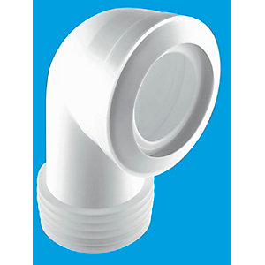 McAlpine 90 Degree Bend Macfit WC Connector White MAC-8