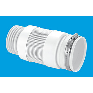 McAlpine Flexible Connection For Back To Wall WC Pan 3 1/2 Inch/90 mm WC-F21S