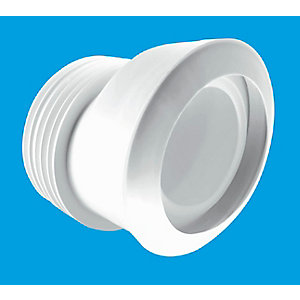 McAlpine Offset Macfit WC Connector White MAC-4