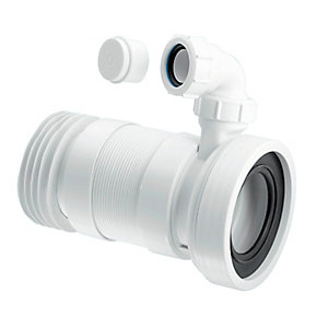 McAlpine Straight Flexible WC Connector with Vent Boss WC-F26RV