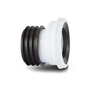 Polypipe Kwickfit Pan Connector 12mm Offset White 110mm SK46