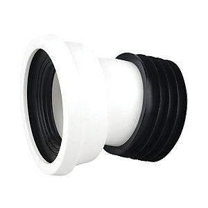 Wavin OsmaSoil Easy-Fit 14 Degree Pan Connector White WC144W