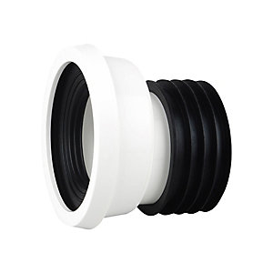 Wavin OsmaSoil Easy-Fit Pan Connector Offset White 4in WC204W