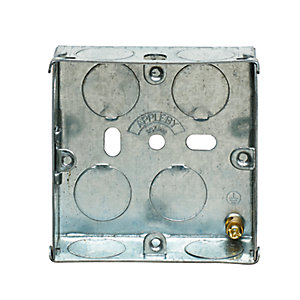 Appleby SB655 1 Gang 25mm Flush Metal Back Box