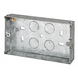 Appleby SB665 2 Gang 25mm Flush Metal Back Box