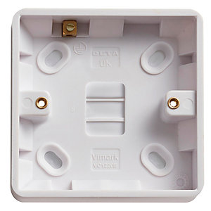 Vimark Curve 1 Gang 16mm Pattress Box - VC1220E