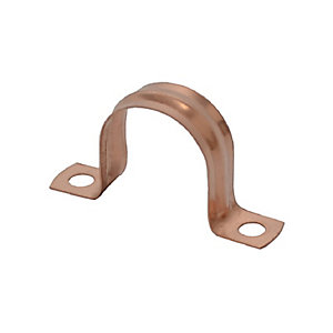 4TRADE 15mm Copper Saddle Clips (Pack of 10)