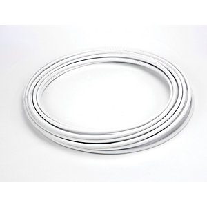 Hep2O Push-Fit Barrier Pipe Coil 15mm x 25m White HXX25/15W