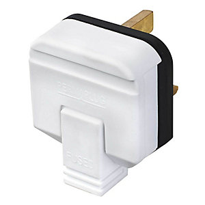Masterplug HDPT13W White 13A Heavy Duty Rubber Plug