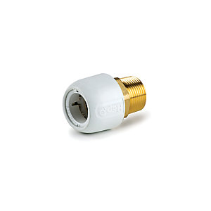 "Hep2O Brass Adaptor Male White 3/4"" x 22mm - HX29/22W"