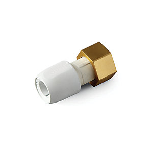 "Hep2O Push-Fit Straight Tap Connector White 15mm x 3/4"" -  HD25B/15W"