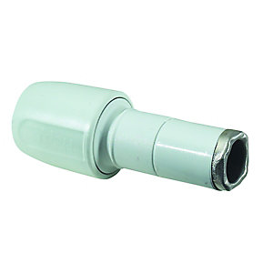 Hep2O Socket Reducer White 22mm x 15mm - HD2/22W