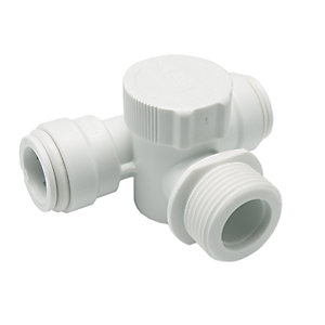 "JG Speedfit Appliance Tee White 15mm x 3/4"" - 15APT2"