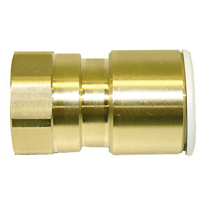 "JG Speedfit Brass Female Coupler 15mm x 1/2"" - MW451514N"