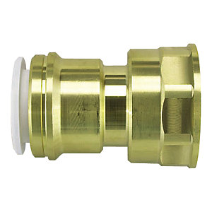 "JG Speedfit Brass Female Cylinder Adaptor 22mm x 1"" - 22CFA"