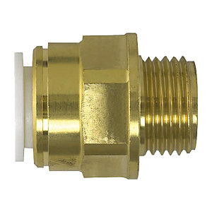 "JG Speedfit Brass Male Coupler 10 mm x 1/2"" BSP 10MC(1/2)"
