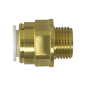 "JG Speedfit Brass Male Coupler 15mm x 1/2"" - 15MC"