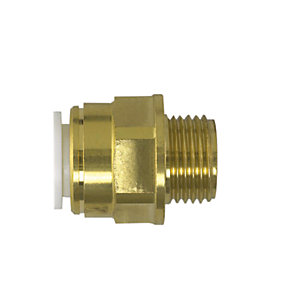 "JG Speedfit Brass Male Coupler 28mm x 1"" BSPT - MW012808N"