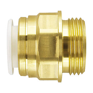 "JG Speedfit Brass Male Cylinder Adaptor 22mm x 1"" - 22CMA"