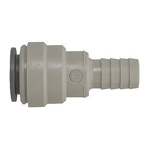 "JG Speedfit Hose Connector Grey 22mm x 3/4"" - NC473"