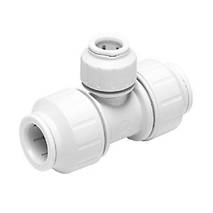 JG Speedfit Reducing Tee White 15mm x 15mm x 22mm - PEM3022CW