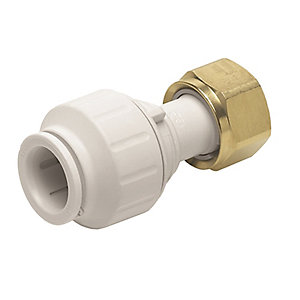 "JG Speedfit Straight Tap Connector 15mm x 1/2"" - PEMSTC1514"