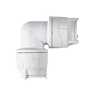 Polypipe PolyFit Elbow White 15mm - FIT115