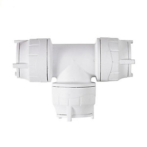 Polypipe PolyFit Equal Tee White 28mm - FIT228