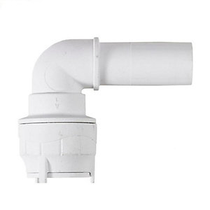 Polypipe PolyFit Spigot Elbow 15mm with Reinforcing Sleeve - FIT1015