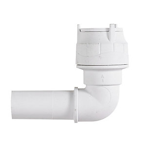 Polypipe PolyFit Spigot Elbow 22mm with Reinforcing Sleeve - FIT1022