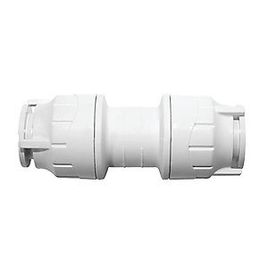 Polypipe PolyFit Straight Coupler 22mm - FIT022