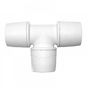 Polypipe PolyMax Equal Tee White 22mm - MAX222