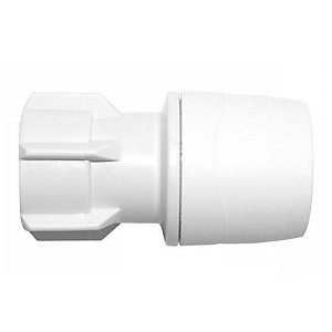 "Polypipe PolyMax Hand Tighten Tap Connector White 15mm x 1/2"" - MAX2715"