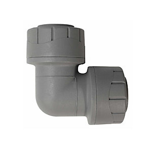 Polypipe PolyPlumb Elbow Grey 22mm - PB122