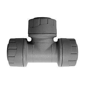 Polypipe PolyPlumb Equal Tee Grey 22mm - PB222