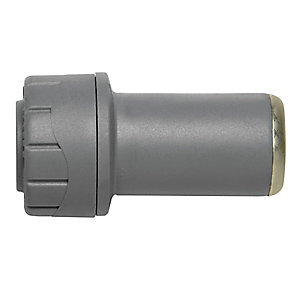 Polypipe PolyPlumb Socket Reducer Grey 22mm x 15mm - PB1822