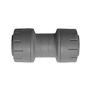 Polypipe PolyPlumb Straight Coupler Grey 10mm PB010
