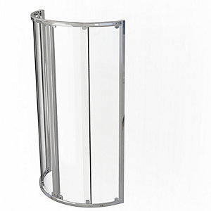 Kudos Original Curved Quadrant Sliding Door Shower Enclosure 910 x 910 mm 3CD91S