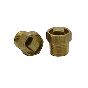 4TRADE Brass 1/8in Radiator Air Vent (Pack of 2)